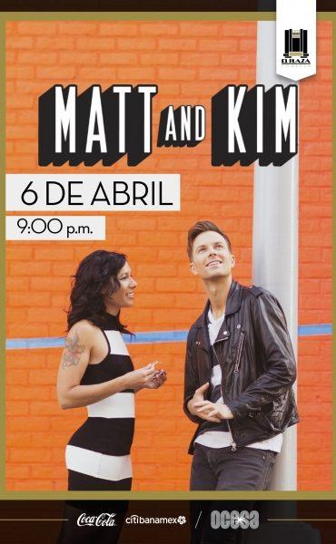 Matt & Kim en El Plaza Condesa