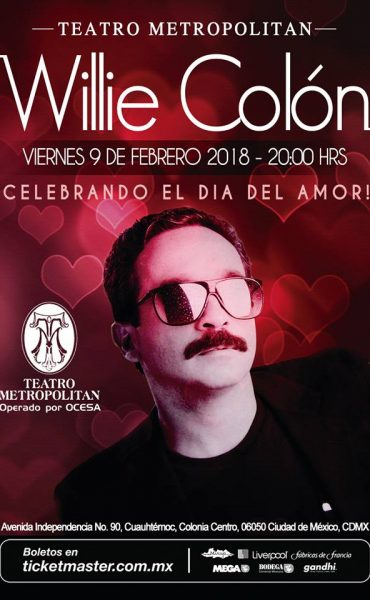 WILLIE COLON REGRESA A MÉXICO AL TEATRO METROPOLITAN