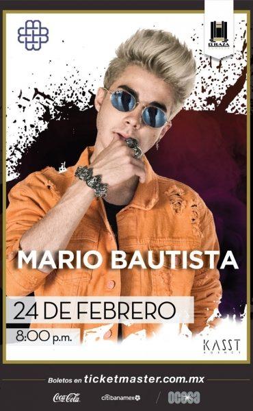 Mario Bautista próximamente en El Plaza Condesa