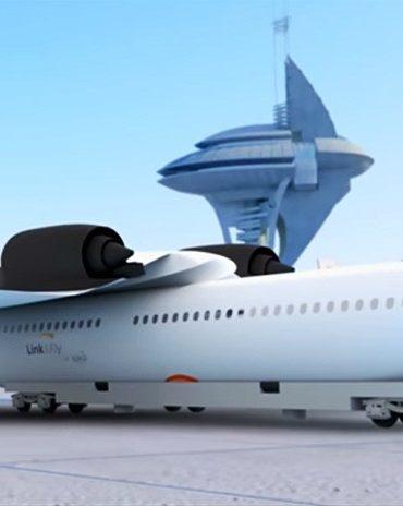 ¿Embarcar sentados?: Así es el 'tren volador' con alas desmontables